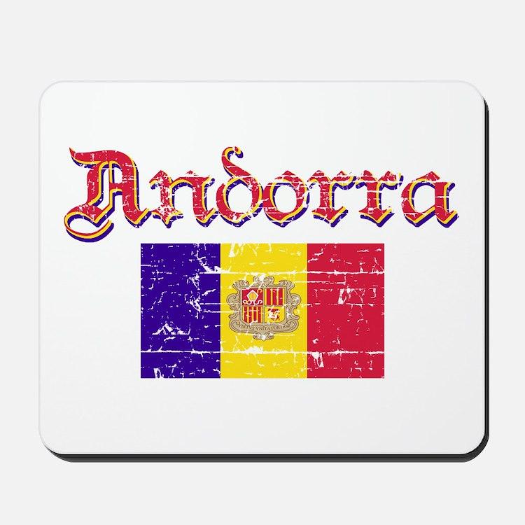 Andorran Flag Mousepad