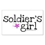 Soldier's Girl - Purple Rectangle Sticker