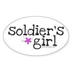 Soldier's Girl - Purple Oval Sticker