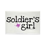 Soldier's Girl - Purple Rectangle Magnet (10 pack)