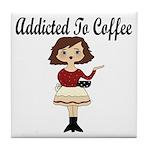 Addicted to Coffee Tile Coaster