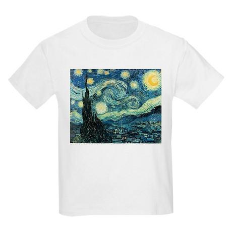Van Gogh Starry Night Kids Light T-Shirt