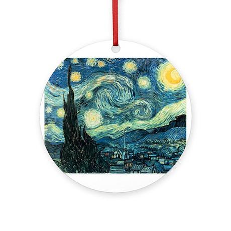 Van Gogh Starry Night Ornament (Round)