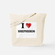 I Love Shepherds Tote Bag