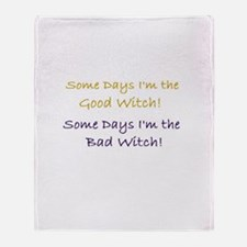 Cute Bad witch Throw Blanket