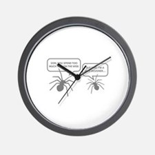 Too Much Time On The Web Wall Clock