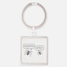 Too Much Time On The Web Square Keychain