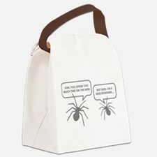 Too Much Time On The Web Canvas Lunch Bag