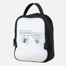 Too Much Time On The Web Neoprene Lunch Bag