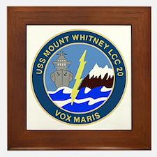 USS Mount Whitney (LCC 20) Framed Tile