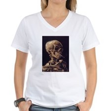 Van Gogh Skull with a Burning Cigarette Shirt