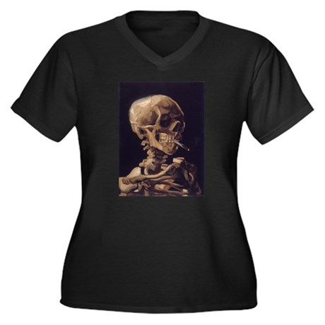 Van Gogh Skull with a Burning Cigarette Women's Pl