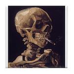 Van Gogh Skull with a Burning Cigarette Tile Coast