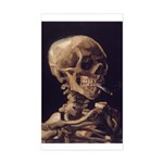 Van Gogh Skull with a Burning Cigarette Sticker (R