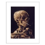 Van Gogh Skull with a Burning Cigarette Small Post