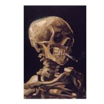 Van Gogh Skull with a Burning Cigarette Postcards