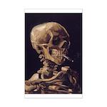 Van Gogh Skull with a Burning Cigarette Mini Poste