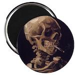 Van Gogh Skull with a Burning Cigarette Magnet