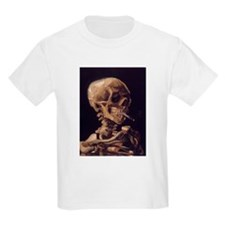 Van Gogh Skull with a Burning Cigarette T-Shirt