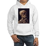 Van Gogh Skull with a Burning Cigarette Hooded Swe