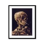 Van Gogh Skull with a Burning Cigarette Framed Pan