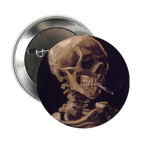 "Van Gogh Skull with a Burning Cigarette 2.25"" Butt"