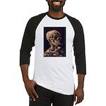 Van Gogh Skull with a Burning Cigarette Baseball J