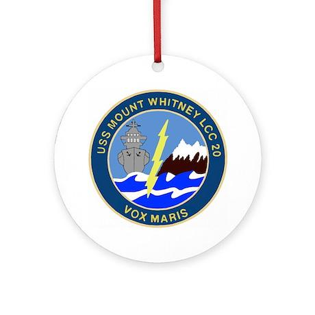 USS Mount Whitney (LCC 20) Ornament (Round)