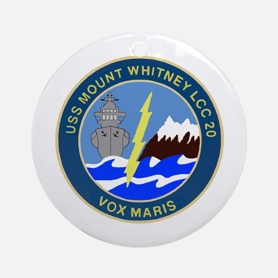 USS Mount Whitney (LCC 20) Ornament (Round)