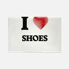 I Love Shoes Magnets