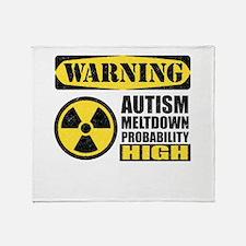 Autism Meltdown Probable Throw Blanket