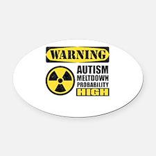 Autism Meltdown Probable Oval Car Magnet
