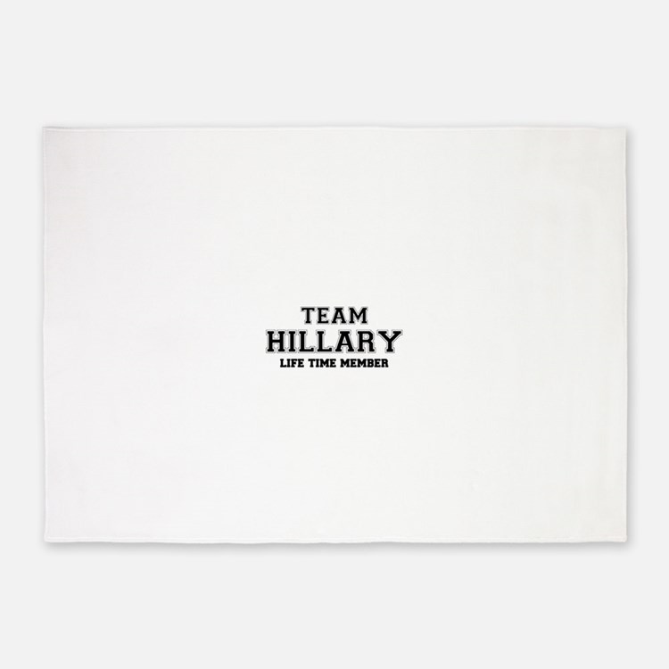 Team HILLARY, life time member 5'x7'Area Rug