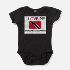 Cute Trinidadian travel Baby Bodysuit