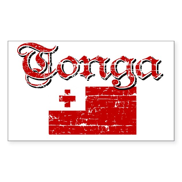 Tongan Flag Rectangle Stickers By Breezyteez