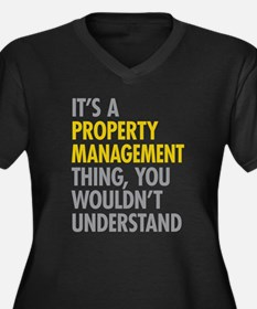 Property Management Plus Size T-Shirt