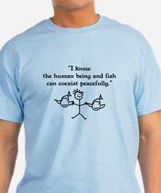 Fish & Humans Coexist T-Shirt