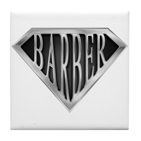 SuperBarber(metal) Tile Coaster