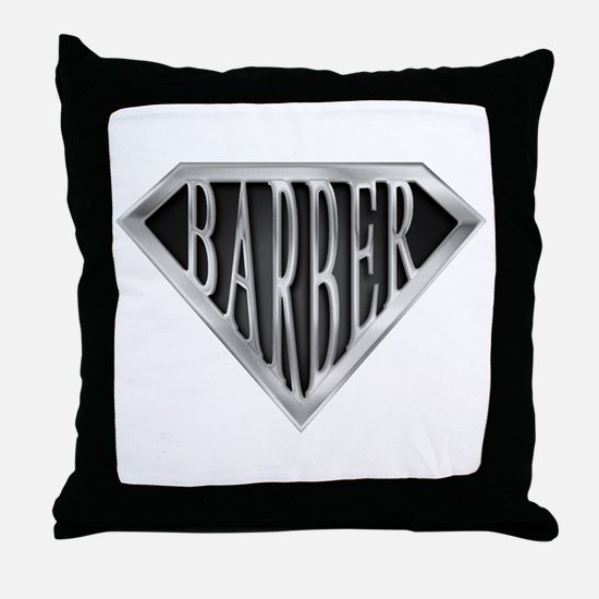 SuperBarber(metal) Throw Pillow