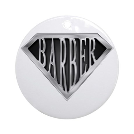 SuperBarber(metal) Ornament (Round)