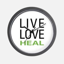 Live Love Heal Wall Clock