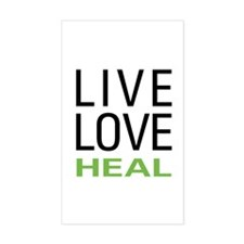 Live Love Heal Rectangle Decal