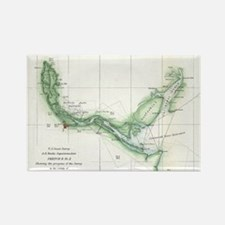 Vintage Map of The Savannah River (1854) Magnets
