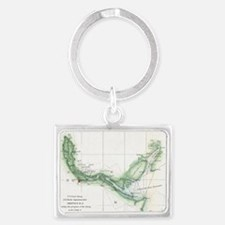 Vintage Map of The Savannah River (1854) Keychains