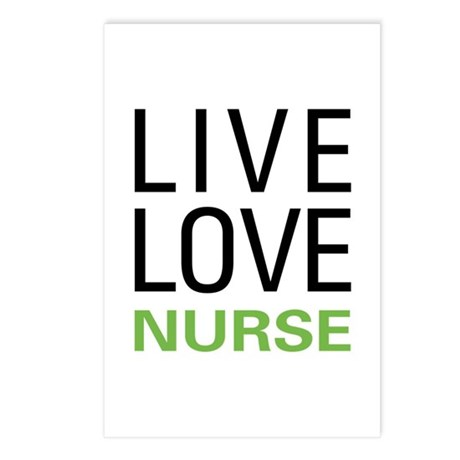Live Love Nurse Postcards (Package of 8)