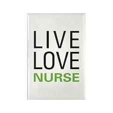 Live Love Nurse Rectangle Magnet (100 pack)