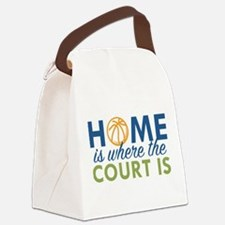 Home Is Where The Court Is Canvas Lunch Bag