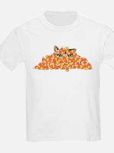 Candy Corn Cat T-Shirt
