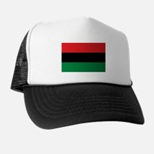 African American Flag - Red Black and Trucker Hat