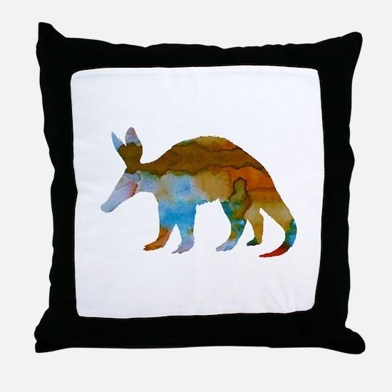 Aardvark Throw Pillow
